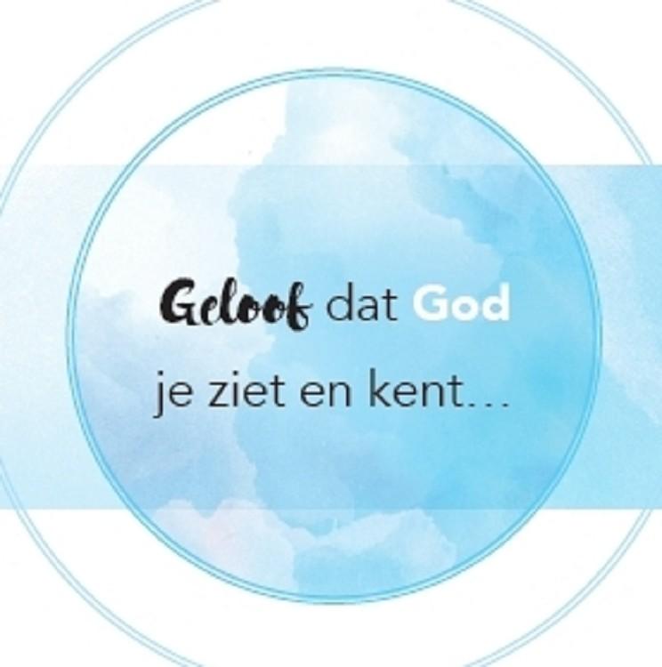 Veilig bij God  (71 x 71 mm)
