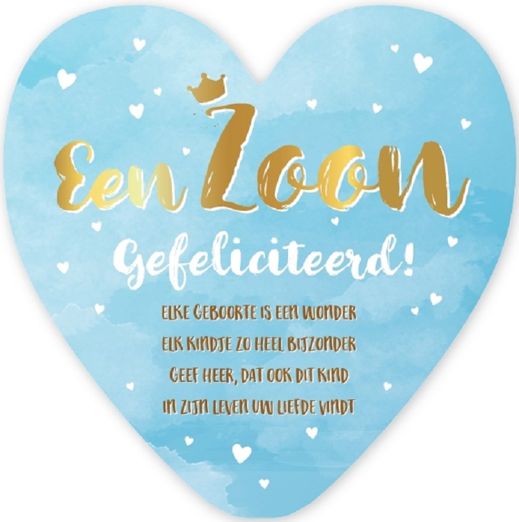 Beroemd Geboorte Zoon - HeartLights (7701-7768) - blcwebshop #XT24