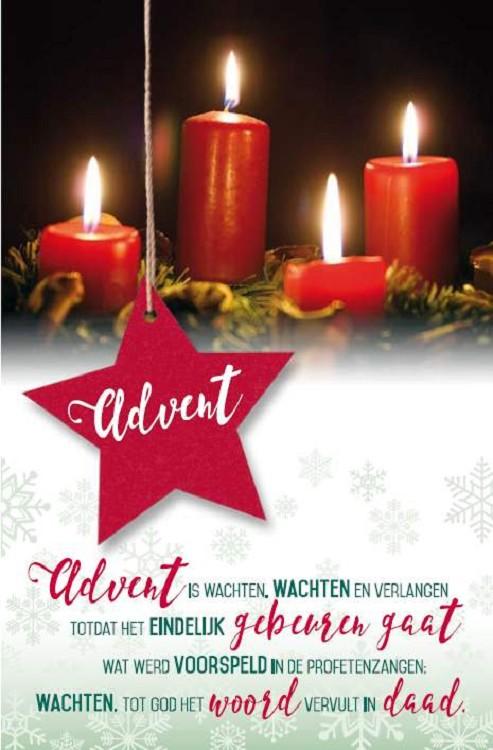Wenskaart Advent Met Gedichtspreuk Blcwebshop