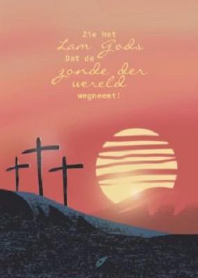 Wenskaart Zie het Lam Gods