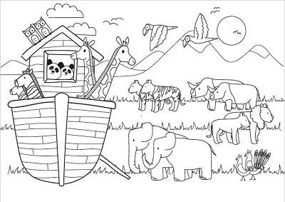 Kleurkaart De ark van Noach