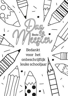 Kleurkaart Dag Beste Meester