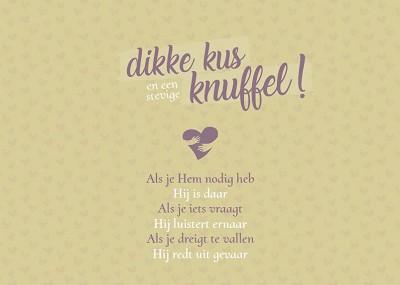 Dikke kus/ stevige knuffel