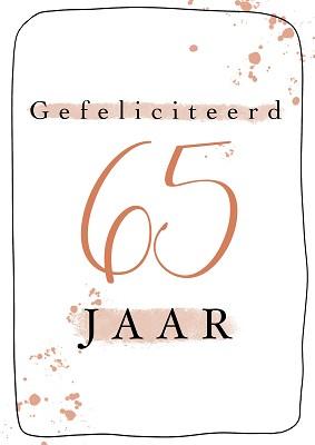 Gefeliciteerd 65 jaar