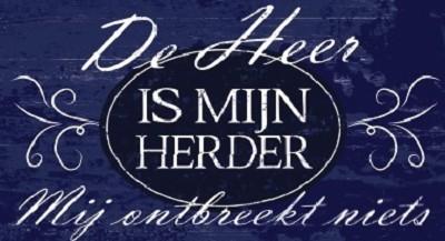 De Heer is mijn Herder