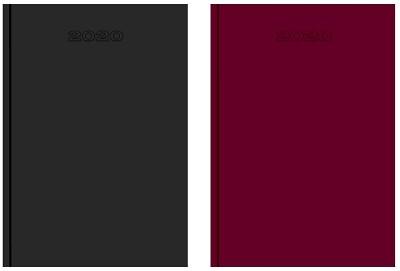 Bureau-agenda Zwart/Bordeaux