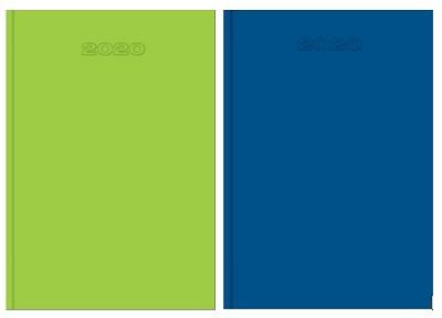 Bureau-agenda Lime/Azurro