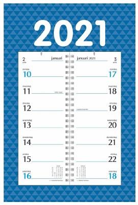 Omlegweekkalender op schild