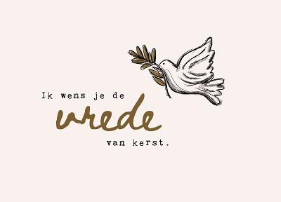 Ik wens je de vrede van Kerst
